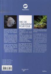 Abc de l'aquarium pour tous - 4ème de couverture - Format classique
