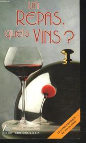 Repas,quels vins - Couverture - Format classique