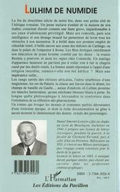 Lulhim De Numidie. Heurs Ettourments D'Un Jeune Affran - 4ème de couverture - Format classique