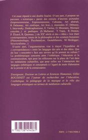 Des Arts Et Des Idees Au Xx Siecle - 4ème de couverture - Format classique