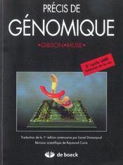 Precis De Genomique - Intérieur - Format classique