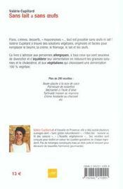 Sans Lait Et Sans Oeufs - 4ème de couverture - Format classique