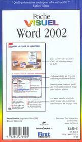 Poche Visuel Word 2002 - 4ème de couverture - Format classique