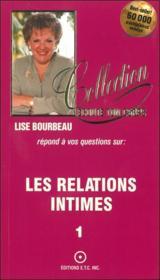 Les Relations Intimes T.1 - Couverture - Format classique