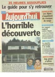 Aujourd'Hui En France N°1107 du 10/12/2004 - Couverture - Format classique