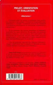 Projet, Orientation Et Evaluation - 4ème de couverture - Format classique