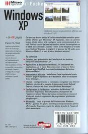 Poche Windows Xp - 4ème de couverture - Format classique