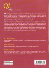 Qi Et Intelligence Humaine - 4ème de couverture - Format classique