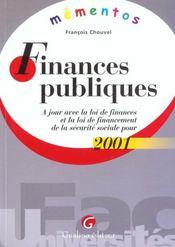 Finances publiques 2001 - Intérieur - Format classique