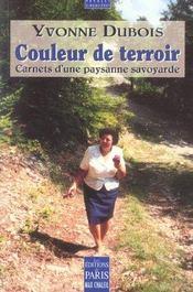 Couleur De Terroir ; Carnet D'Une Paysane Savoyarde - Intérieur - Format classique