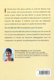L'univers plaNETaire des jeunes ; guide des sites Web francophones - 4ème de couverture - Format classique