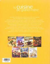 La Cuisine De Grand-Mere - 4ème de couverture - Format classique