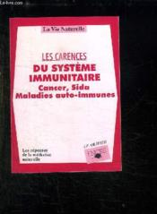 Carences Du Systeme Immunitair - Couverture - Format classique