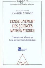 L'Enseignement Des Sciences Mathematiques - Intérieur - Format classique