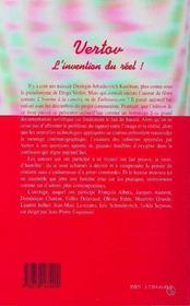 Vertov L'Invention Du Reel - 4ème de couverture - Format classique