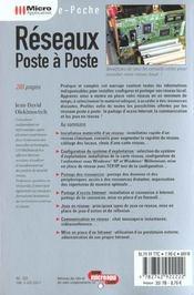 Reseaux Poste A Poste - 4ème de couverture - Format classique