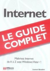 Internet guide complet - Couverture - Format classique