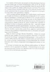 L'Embryon, Cet Inconnu - 4ème de couverture - Format classique