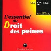 Essentiel Du Droit Des Peines (L') - Intérieur - Format classique
