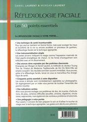 Réflexologie faciale, les 50 points essentiels - 4ème de couverture - Format classique