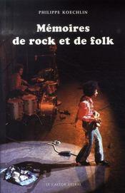 Mémoires de rock et de folk - Intérieur - Format classique