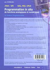 Programmation In Situ De Fonctions Numeriques Et Analogiques Avec Cd - 4ème de couverture - Format classique