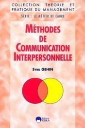 Methodes de communication interpersonnelle - Couverture - Format classique