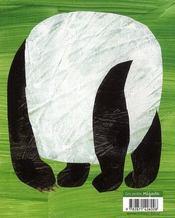 Panda, dis-moi... - 4ème de couverture - Format classique
