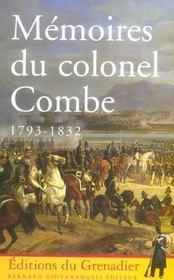 Memoires du colonel combe 1793-1832 - Intérieur - Format classique
