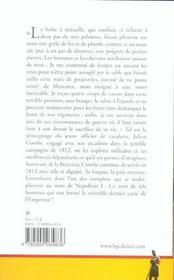 Memoires du colonel combe 1793-1832 - 4ème de couverture - Format classique