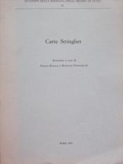 Carte Stringher. - Couverture - Format classique