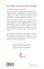 La Sante Mentale Des Francais - 4ème de couverture - Format classique