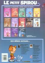Le petit Spirou t.13 ; fais de beaux rêves ! - 4ème de couverture - Format classique