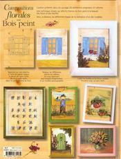 Compositions Florales Sur Bois Peint - 4ème de couverture - Format classique