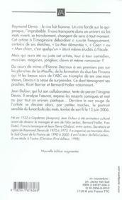 Raymond devos, funambule des mots - 4ème de couverture - Format classique