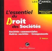 Essentiel droit des societes t.1. les societes commerciales (l') - Intérieur - Format classique