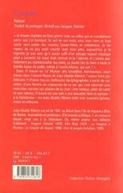 O luxure - 4ème de couverture - Format classique