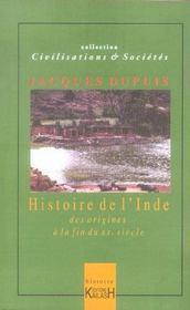 Histoire De L'Inde - Intérieur - Format classique