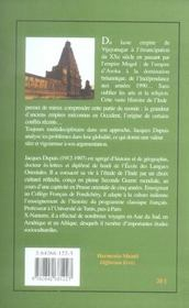 Histoire De L'Inde - 4ème de couverture - Format classique