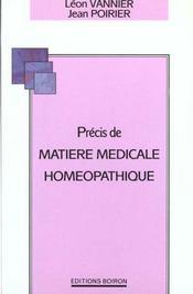 Precis De Matiere Medicale Homeopathique - Intérieur - Format classique