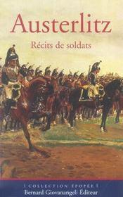Austerlitz. Recits De Soldats - Intérieur - Format classique