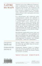 Naître humain (édition 2002) - 4ème de couverture - Format classique