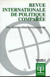 Revue Internationale De Politique Comp. Les Democraties Consociatives - Couverture - Format classique