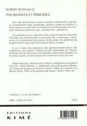 Tournants Et Periodes - 4ème de couverture - Format classique