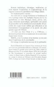 Maya - 4ème de couverture - Format classique