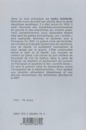 La rébellion de Kronstadt 1921 - 4ème de couverture - Format classique