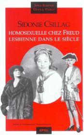 Sidonie Csillag, Homosexuelle Chez Freud - Intérieur - Format classique