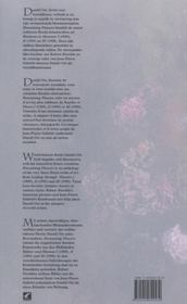 Fleurs ephemeres - 4ème de couverture - Format classique