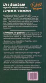 L'Argent Et L'Abondance T.5 - 4ème de couverture - Format classique