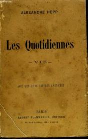 Les Quotidiennes. Vie. - Couverture - Format classique